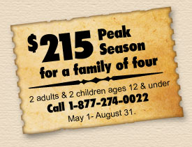 Peak Season Special - Call 877-274-0022